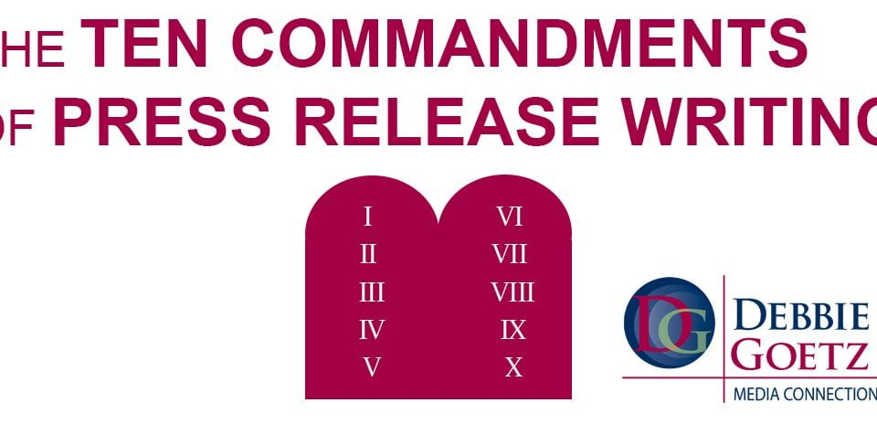 the ten commandments of press release writing