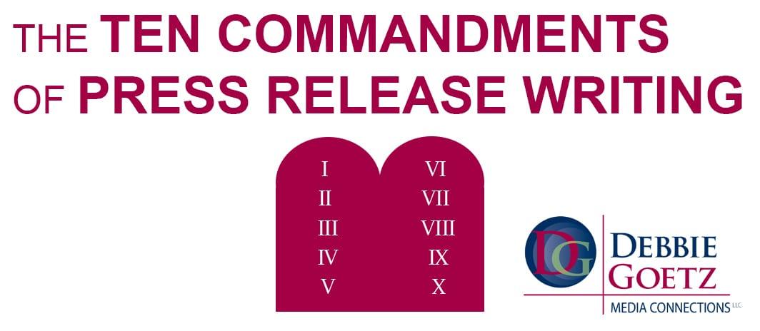 the ten commandments of press release writing